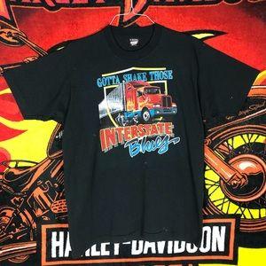 Vintage 90's Shake Interstate Blue Shirt Wheeler